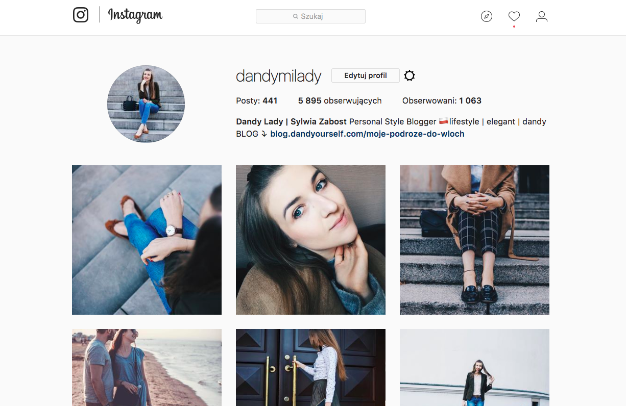 Instagram Dandy Lady