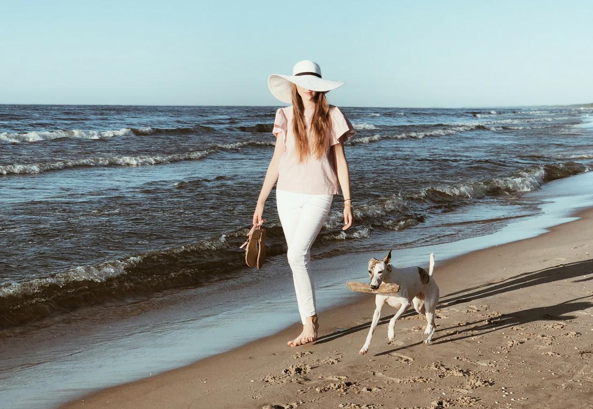 z psem nad morze